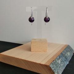 Boucles d'oreilles nuances de violet et/ou rose
