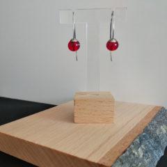 Boucles d'oreilles nuances de rouge