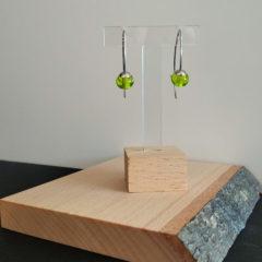 Boucles d'oreilles nuances de vert